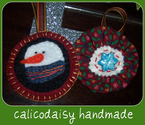 calicodaisy handmade ornaments