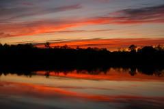 Burning cloud (Fly bye!) Tags: sunset cloud lake pond dusk marbury bigmere
