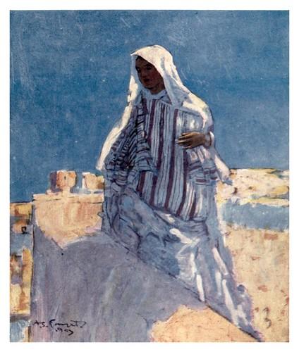 029-En la azotea de una casa en Marrakesh-Morocco 1904- Ilustraciones de A.S. Forrest