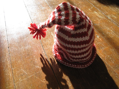 Candy cane baby hat