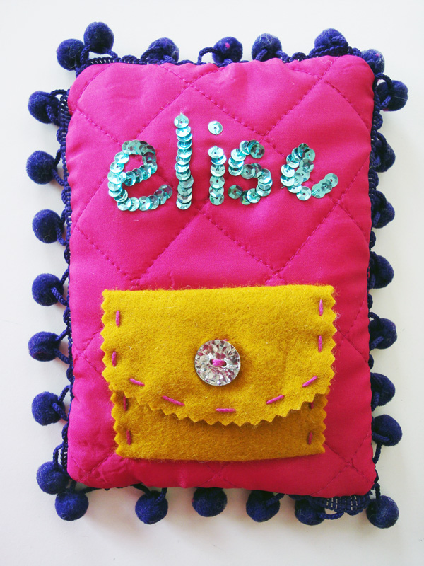 Elise's finished Tooth Fairy Pillow!