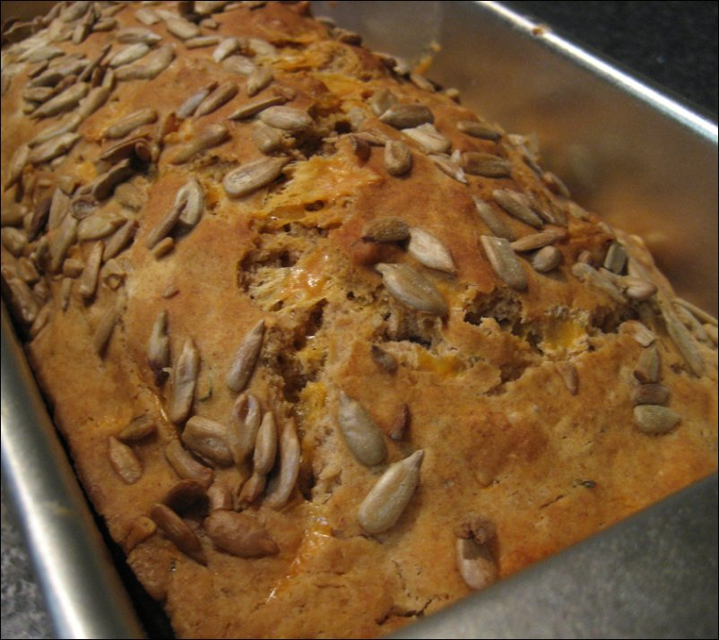 beer bread - still in the pan
