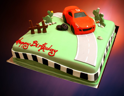 ferrari racing car cake