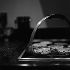 Drop scones (Skink74) Tags: blackandwhite bw food 120 6x6 film cooking kitchen cake closeup rollei mono baking dof sweet bokeh margarine sugar bronica rack griddle eggs treat flour hob currants ortho aeg orthochromatic agfarodinal s2a welshcakes dropscones zenzabronicas2a nikkorp75mmf28 ortho25 rolleiortho nikkorp75f28 developer:brand=agfa developer:name=agfarodinal film:brand=rollei film:iso=25 s2am014 filmdev:recipe=5593 film:name=rolleiortho25