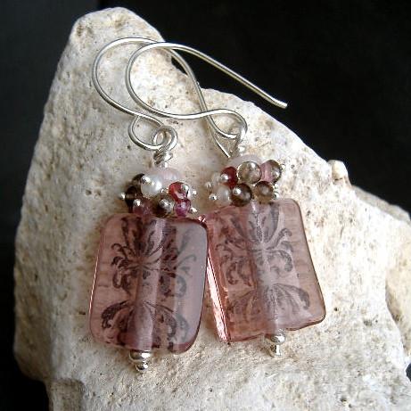 Rose Damask earrings