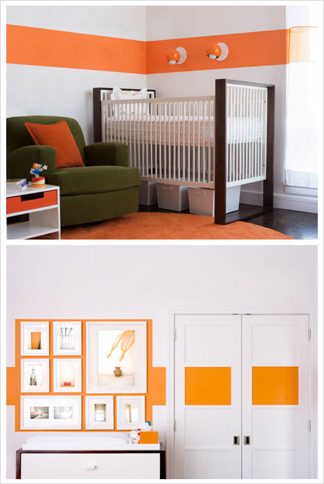 Orange & White Nursery