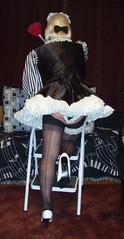 Bunnymaid in uniform (Bunnymaid2) Tags: stockings highheels knickers transvestite suspenders crossdresser shortskirts frenchmaid petticoats stockingtops sissymaid frillyknickers seamedstockings
