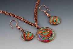 Orange Fish Jewelry Set