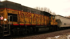 Northbound Union Pacific local freight train. Glenview Illinois. January 2010.