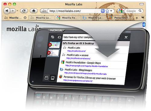 Un N900 avec Weave Sync