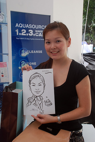 Caricature live sketching for Biotherm Roadshow Loreal - 4