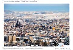 Winter in Auvergne, Clermont-Ferrand (BerColly) Tags: winter panorama france church town hiver eglise ville auvergne grandroue puydedome clermontfd francelandscapes