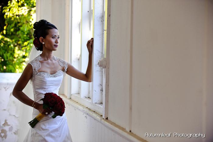 Ari & Shaun's Wedding - The pensive bride