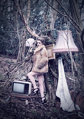 (amy.sanders) Tags: vintage woodland furniture surreal furcoat lampshade suitcases highfashion lottiemackay