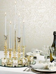 Antique-silver-table-setting