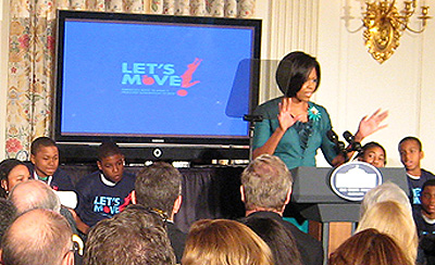 Michelle Obama announces Let's Move - cropped