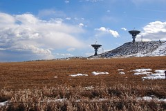 Not big Bird Baths (Let Ideas Compete) Tags: sky usa snow field america radio us colorado skies technology united engineering science boulder research co astronomy essence states patches antennas