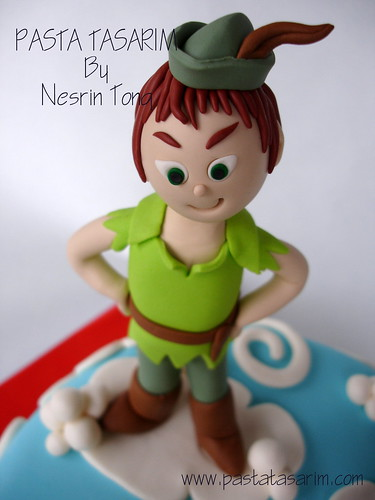 PETER PAN, TINKERBELL AND KAPTAIN HOOK CAKE