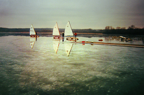 2000 Was a Good Year for Ice Boating on Lake Wingra