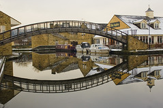 Reflection at Aspley Basin, Huddersfield (pixiepic's) Tags: bridge snow reflection building water huddersfield platinumheartaward absolutelystunningscapes platinumpeaceaward aspleybasin