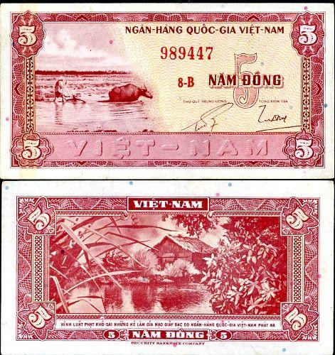 Južný Vietnam - SOUTH VIETNAM 5 DONG 1955 P13