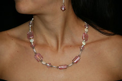 Di's jewelryII 032 (dokinhs) Tags: woman neck bareback necklace back skin earring jewelry ear shoulders handicrafts handmadejewelry uniquejewelry