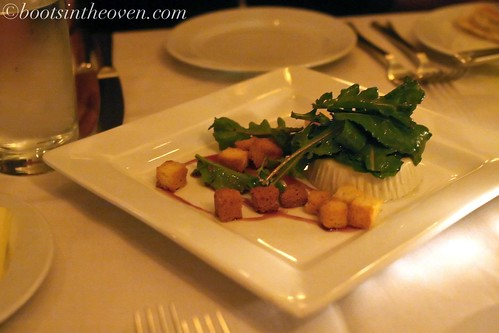 blue cheese panna cotta with baby arugula, brioche croutons, and thyme $15