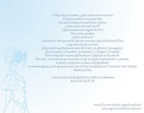 Lectura de la carta del Apóstol San Pablo a los Romanos Rm 8, 31b-35.37-39