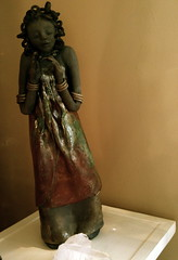 sacred woman-raku pottery