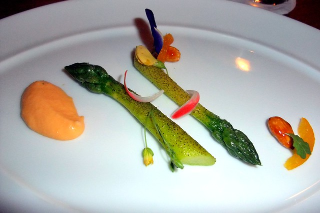 4th Course: Green Asparagus, Bergamot and Almond