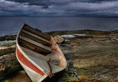 Shipwrecked Dinghy (Digital Webb) Tags: sky cloud storm water boat bc britishcolumbia shipwreck gabriolaisland aground wreck dinghy wwb roughwater