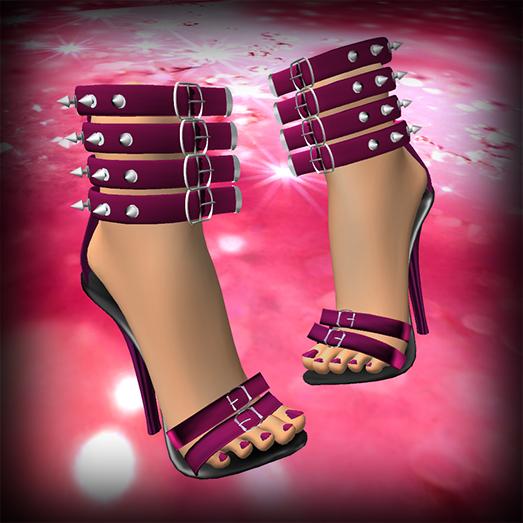 Vinyl Cafe Free Pink Spiked Stilettos