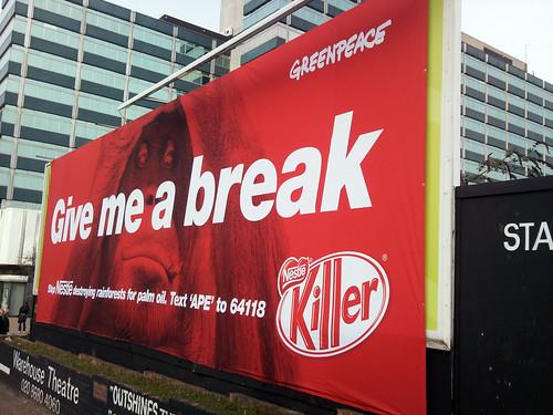 Anuncio de Greenpeace contra Nestle