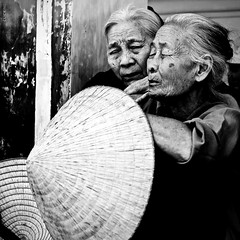 Sadness (-clicking-) Tags: lighting old people blackandwhite bw woman portraits sadness women faces flood time details country poor mother vietnam older aged sorrow visage 500x500 blackwhitephotos nnl winner500 artofimages bestportraitsaoi elitegalleryaoi
