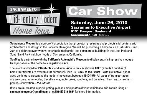Back to the Future: Sacramento Mid-Century Modern Home Tour's Car Show