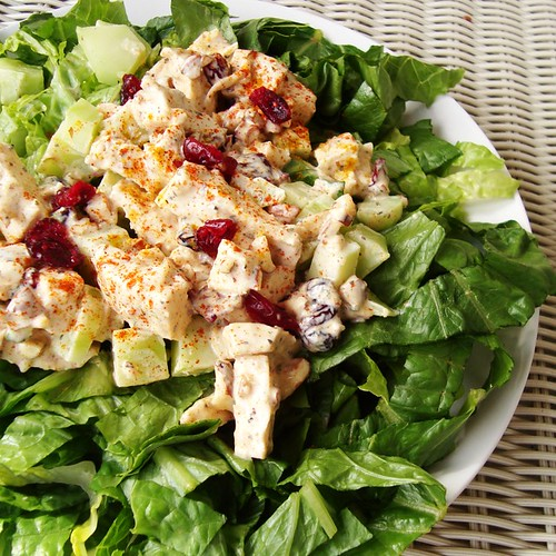 Curried Chicken Salad with Almonds and Cranberries