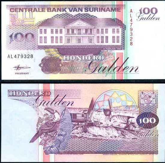 100 Guldenov Surinam 1991-8 P139
