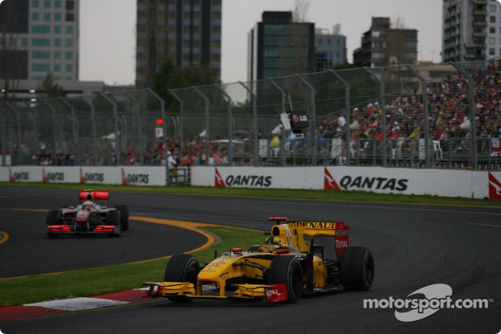Robert Kubica (Renault), en el GP de Australia 2010.