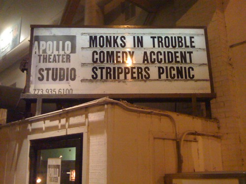 Monks in Trouble marquee (2/19/10)