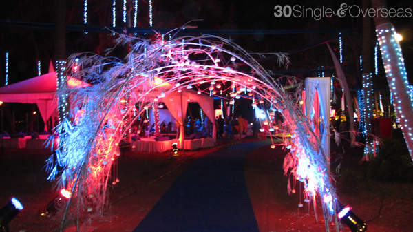 Entrance to an open air area where the Sangeet was held