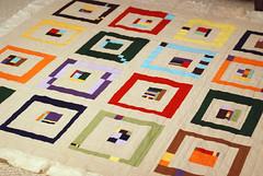 pre-pucker (novamade) Tags: colors break quilt squares sewing blocks machinequilting quiltsandwich