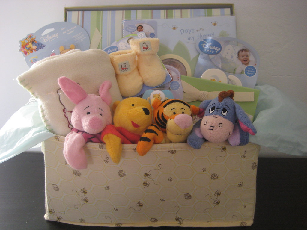 Pooh and Friends raffle basket