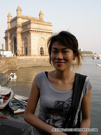 At Colaba bay with the Gateway of India as backdrop