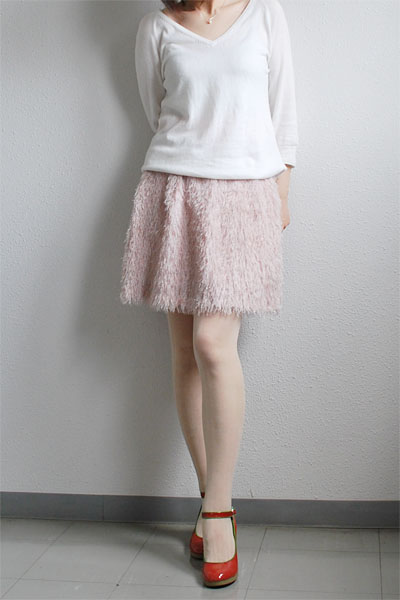 feathery skirt