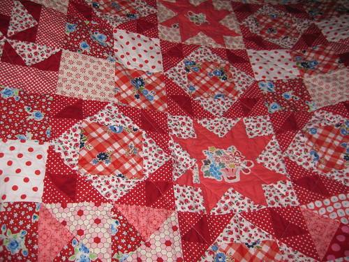 gramas garden quilt, details