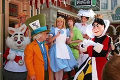 Character Bunch (briberry) Tags: white rabbit hearts alice disneyland mary bert disney queen peter pan mad wonderland hatter poppins