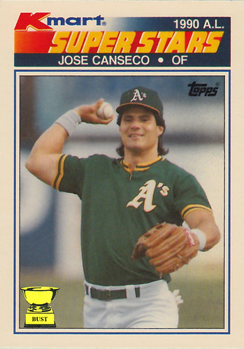 Baseball Card Bust Jose Canseco 1990 Topps Kmart Super Stars