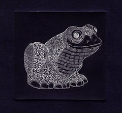 --- 001 (tim.spb) Tags: original etching postcard small frog ornament plates desigh    aquafortis   princes
