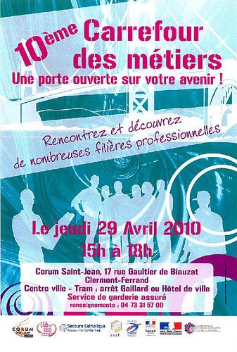 Carrefour des métiers le 29/4 à Clermont-Ferrand
