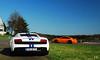 Lamborghini LP560 + GT3 RS (EB.Photography) Tags: photography nikon stripes sunday rear sigma f 28 1770 eb 2010 combo tf 997 nordschleife nurburgring d80 lp5604